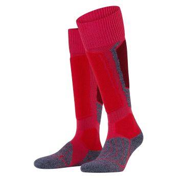 Falke SK1, ženske čarape za skijanje, crvena