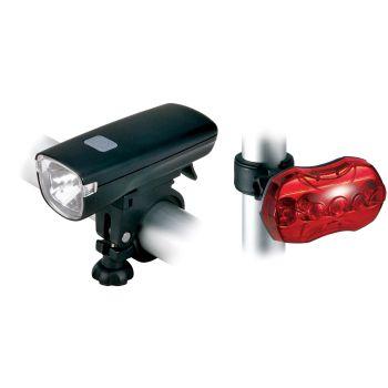 Cytec 1HP LED, set svjetala za bicikl, crna