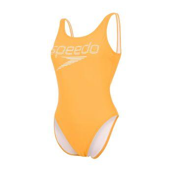 Speedo LOGO DEEP U-BK HI LEG 1PC AF, ženski kupaći, narandžasta