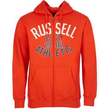 Russell Athletic EST 1902 - ZIP THROUGH HOODY, muški duks, crvena