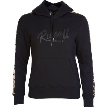 Russell Athletic ANIMAL - PULL OVER HOODY, ženski duks, crna