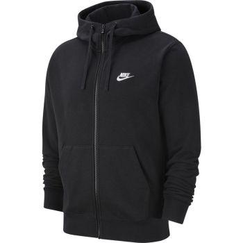 Nike SPORTSWEAR CLUB FULL-ZIP HOODIE, muški duks, crna