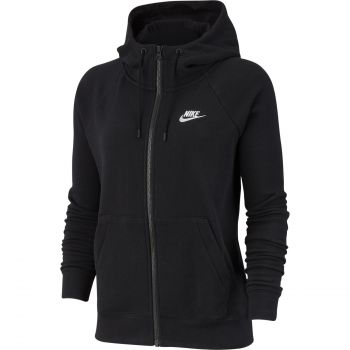 Nike SPORTSWEAR ESSENTIAL FULL-ZIP FLEECE HOODIE, ženski duks, crna