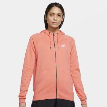 Nike SPORTSWEAR ESSENTIAL FULL-ZIP FLEECE HOODIE, ženski duks, narandžasta