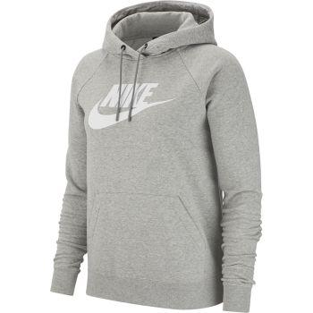 Nike SPORTSWEAR ESSENTIAL FLEECE PULLOVER HOODIE, ženski duks, siva