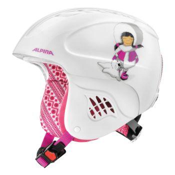 Alpina CARAT, dječija skijaška kaciga, bijela