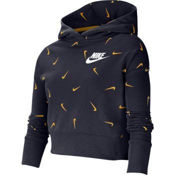 Nike G NSW CROP HOODIE AOP, dječiji duks, plava