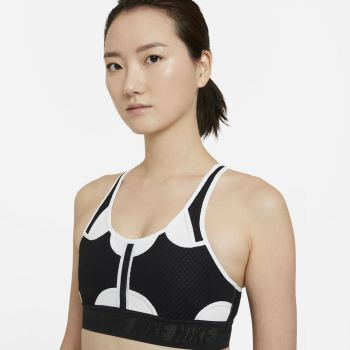 Nike SWOOSH ULTRABREATHE WO MEDIUM SPORTS BRA, ženski top, crna
