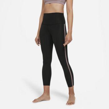 Nike YOGA WO 7/8 NOVELTY LEGGINGS, ženske 7/8 helanke za fitnes, crna