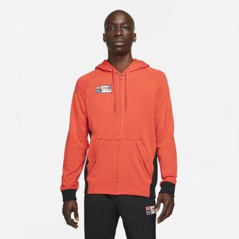 Nike F.C. JOGA BONITO FULL-ZIP SOCCER HOODIE, muški duks za fudbal, crvena