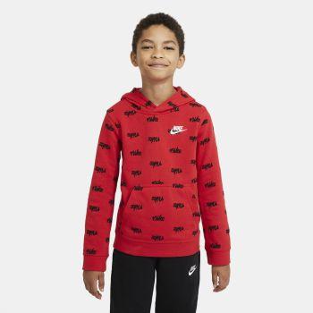 Nike SPORTSWEAR PRINTED PULLOVER HOODIE, dječiji duks, crvena