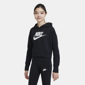 Nike SPORTSWEAR CROPPED HOODIE, dječiji duks, crna