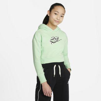 Nike SPORTSWEAR CROPPED HOODIE, dječiji duks, zelena