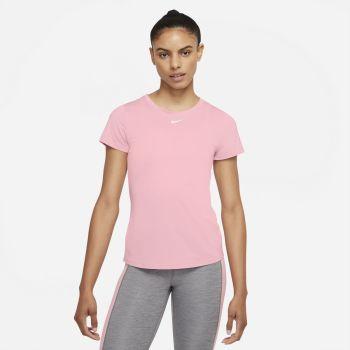 Nike DRI-FIT ONE SHORT-SLEEVE TOP, ženska majica za fitnes, roza