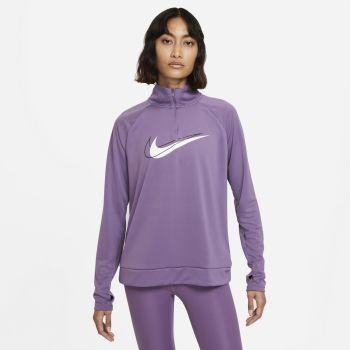 Nike DRI-FIT SOSH RUN 1/2-ZIP RUNNING MIDLAYER, ženska majica dugi rukav za trčanje, ljubičasta