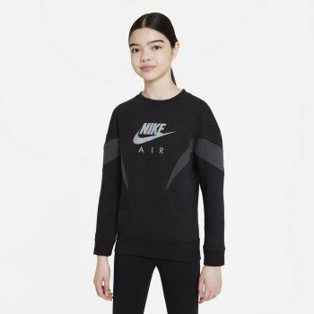 Nike AIR FRENCH TERRY SWEATSHIRT, dječiji duks, crna