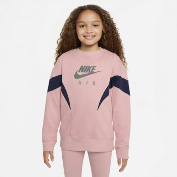 Nike AIR FRENCH TERRY SWEATSHIRT, dječiji duks, roza
