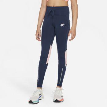 Nike AIR DRI-FIT HIGH-RISE RUNNING LEGGINGS, dječije helanke za trčanje, plava