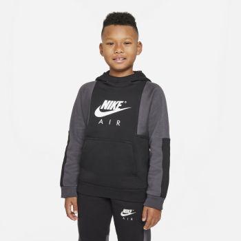 Nike AIR PULLOVER HOODIE, dječiji duks za fitnes, crna