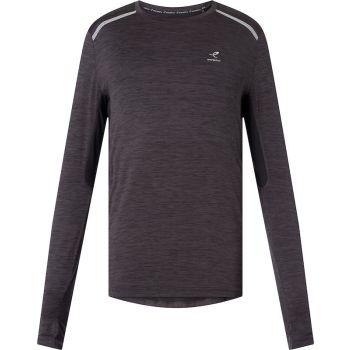 Energetics AIMO II UX, muška majica dugi rukav za trčanje, crna