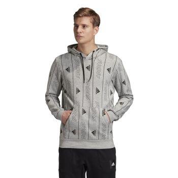 adidas MHS GFX PO Q3, muški duks za fitnes, siva