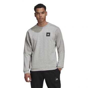 adidas MHS CREW STA, muški duks za fitnes, siva