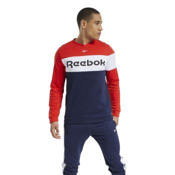 Reebok TE LL FLC CREW, muška majica dugi rukav za fitnes, crvena