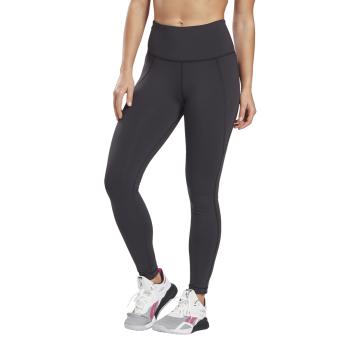 Reebok TS LUX HIGHRISE TIGHT, ženske helanke za fitnes, crna