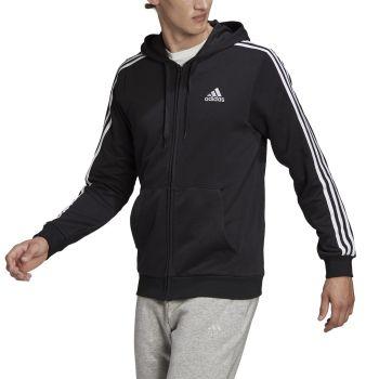 adidas M 3S FT FZ HD, muški duks, crna