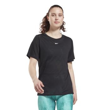 Reebok TS BURNOUT TEE, ženska majica za fitnes, crna
