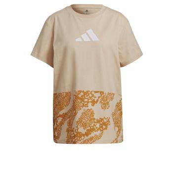 adidas LACE CAMO GFX 2, ženska majica, bež