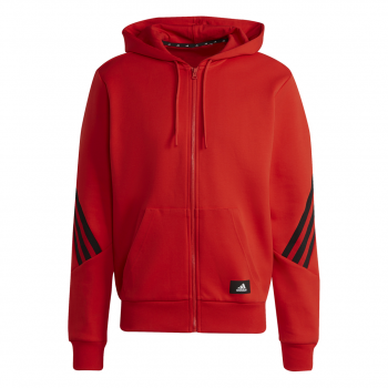 adidas M FI 3S FZ, muški duks, crvena