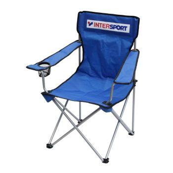 Intersport ARM CHAIR INTERSPORT LOGO, stolica kamp, plava