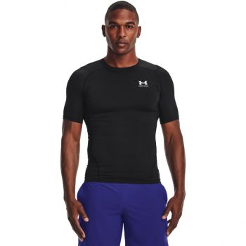 Under Armour HG ARMOUR COMP SS, muška majica za fitnes, crna