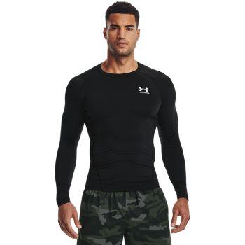 Under Armour HG ARMOUR COMP LS, muška majica dugi rukav za fitnes, crna