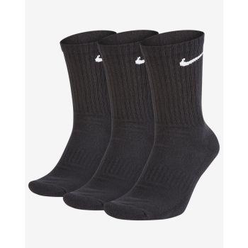 Nike U NK EVERYDAY CUSH CREW 3PR, čarape za fitnes, crna