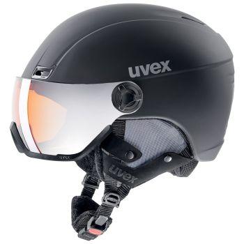 Uvex HLMT 400 VISOR, kaciga skijaška, crna