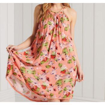 Superdry BEACH CAMI DRESS, ženska haljina, roza
