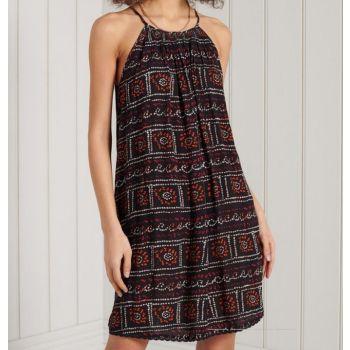 Superdry BEACH CAMI DRESS, ženska haljina, braon