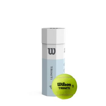 Wilson TRINITI TBALL 3 BALL CAN, lopta za tenis, bijela