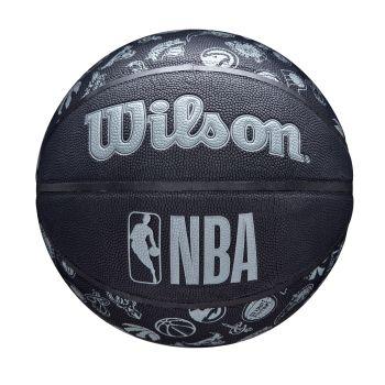 Wilson NBA TEAM COMPOSITE ALL TEAM, lopta za košarku, crna