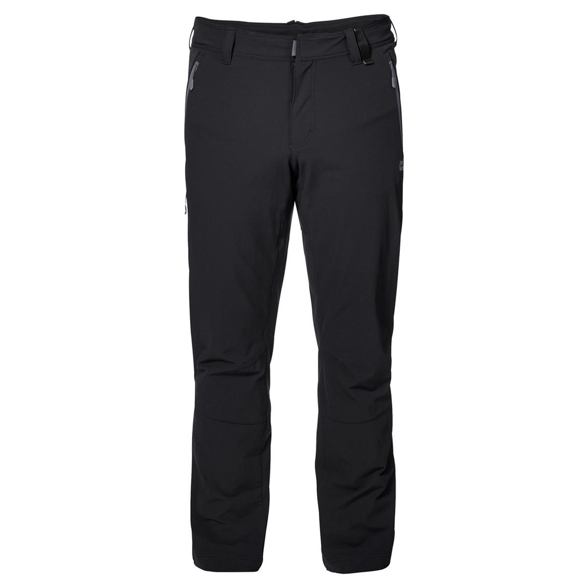 Jack Wolfskin ACTIVATE XT M, muške pantalone za planinarenje, crna