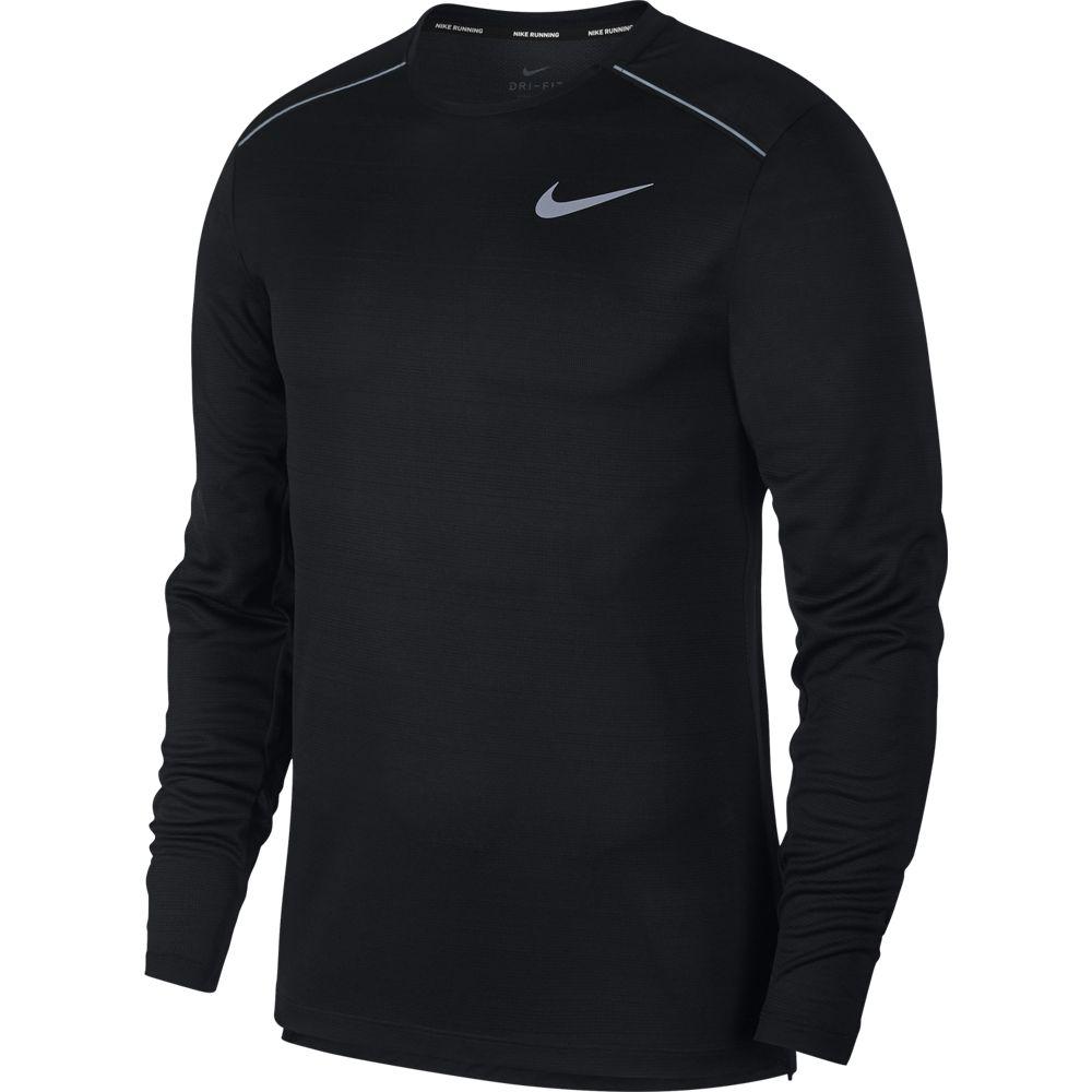 Nike M NK DRY MILER TOP LS, muška majica dugi rukav za trčanje, crna
