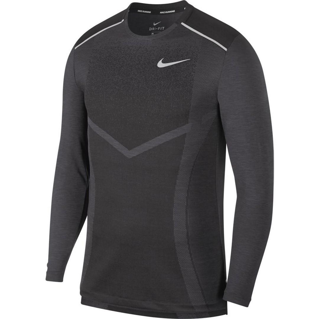 Nike M NK TECHKNIT ULTRA LS, muška majica dugi rukav za trčanje, crna