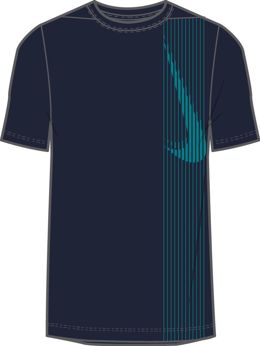 Nike M NK DRY TOP SS LV, muška majica za fitnes, crna