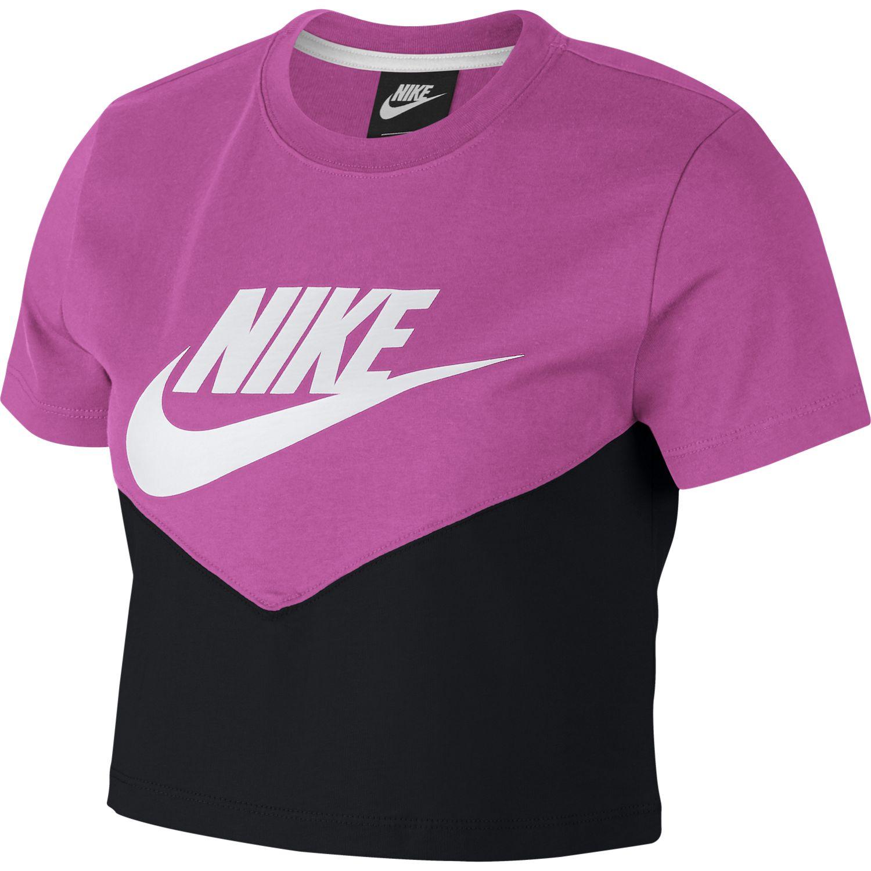 Nike W NSW HRTG TOP SS, ženska majica za fitnes, crna