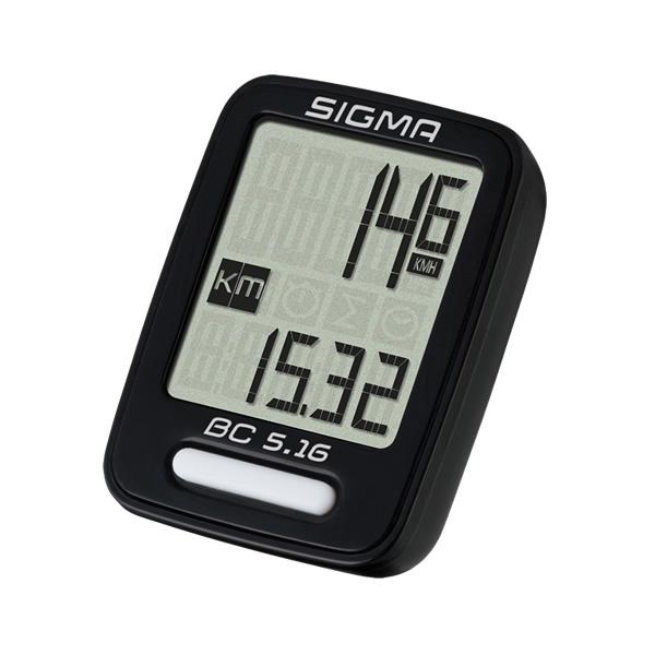 Sigma BC 5.16, biciklistički brojač, crna