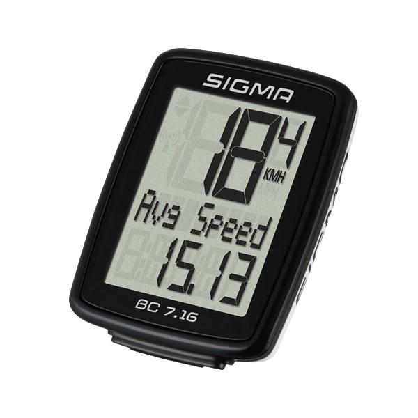 Sigma BC 7.16, biciklistički brojač, crna