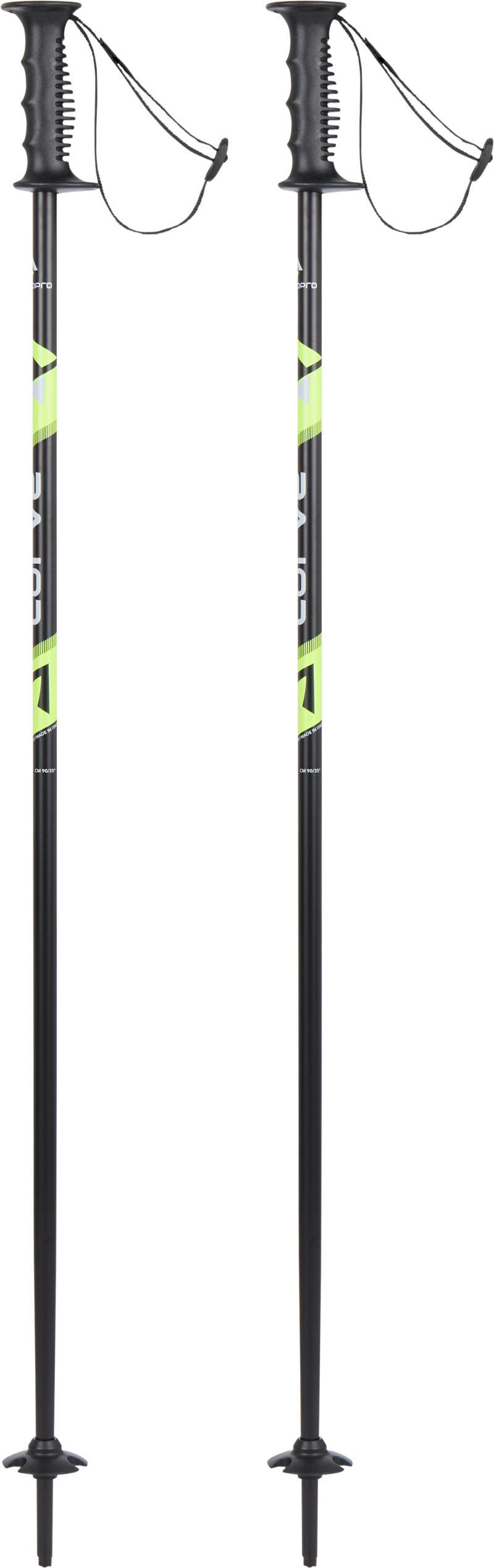 Tecnopro CARVE JR, dječiji štapovi za skijanje, crna
