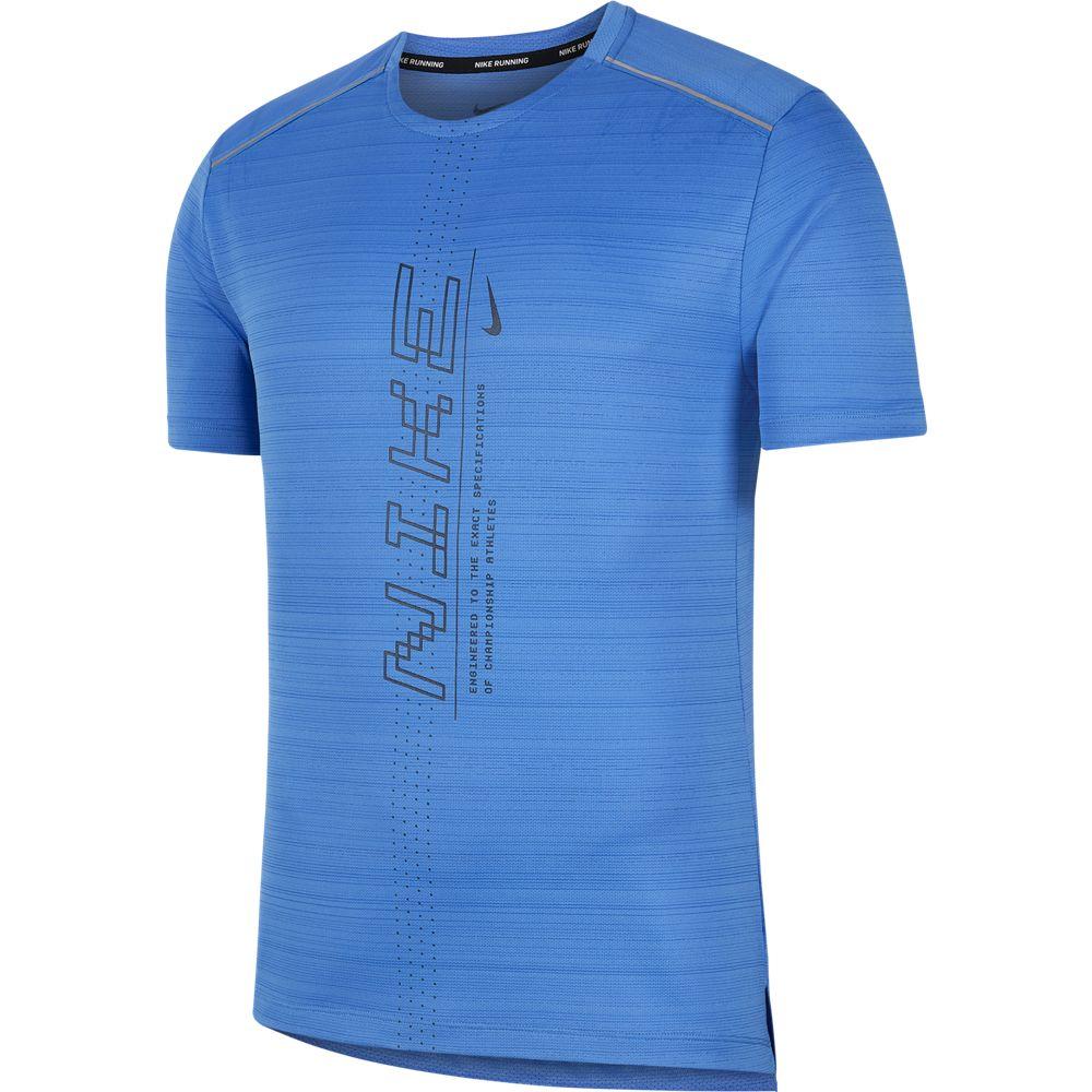 Nike M NK DRY MILER SS PO GX FF, muška majica za trčanje, plava